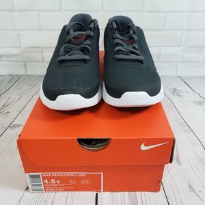NIKE Kids Revolution 3 Running Shoes Size 4.5Y